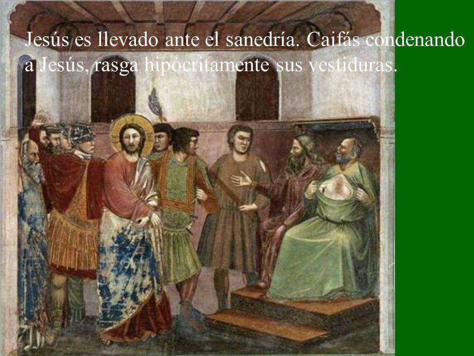 Jesús es llevado ante el sanedría