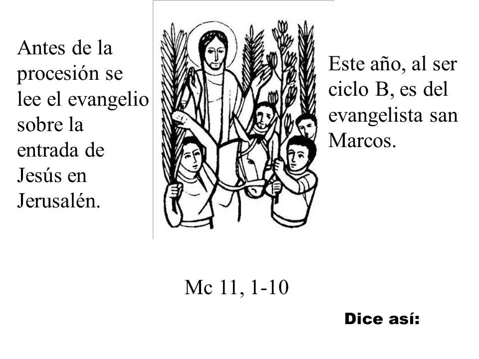 Este año, al ser ciclo B, es del evangelista san Marcos.