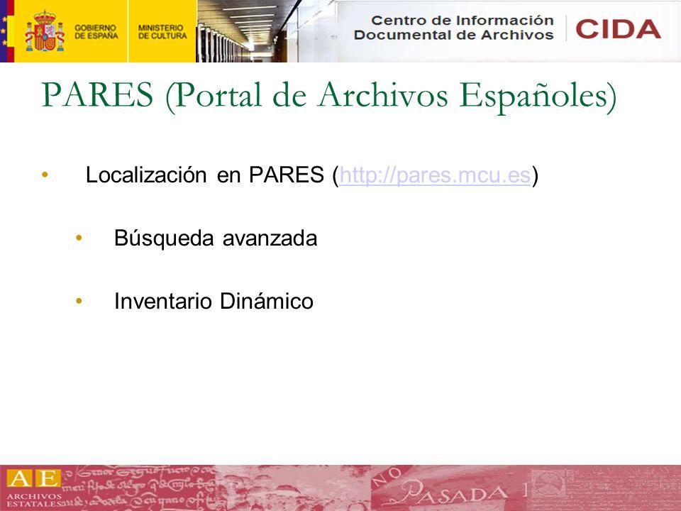 PARES (Portal de Archivos Españoles)
