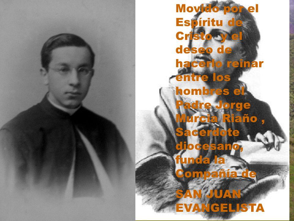Movido por el Espíritu de Cristo y el deseo de hacerlo reinar entre los hombres el Padre Jorge Murcia Riaño , Sacerdote diocesano, funda la Compañía de
