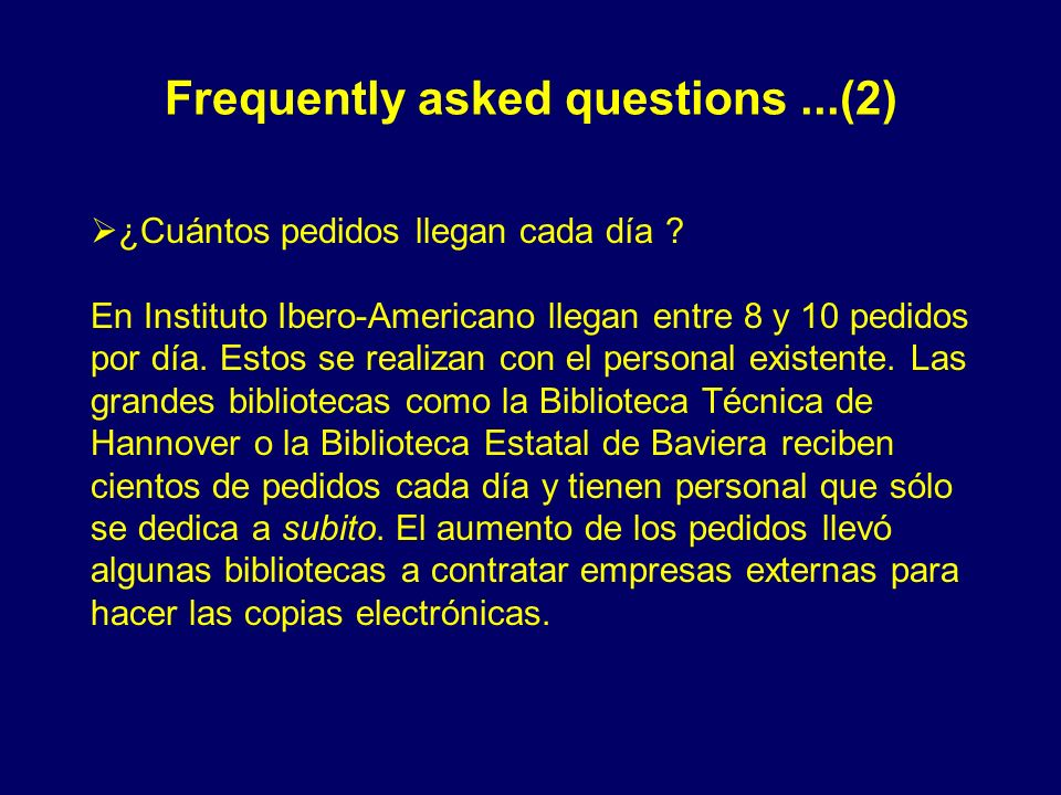 Frequently asked questions ...(2)