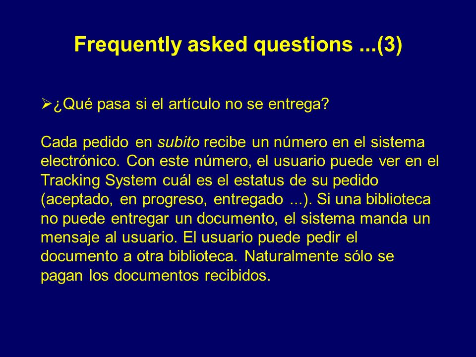 Frequently asked questions ...(3)