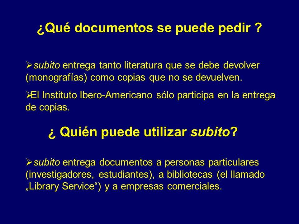 ¿Qué documentos se puede pedir