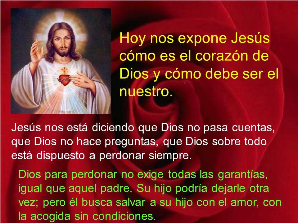 Hoy nos expone Jesús cómo es el corazón de Dios y cómo debe ser el nuestro.