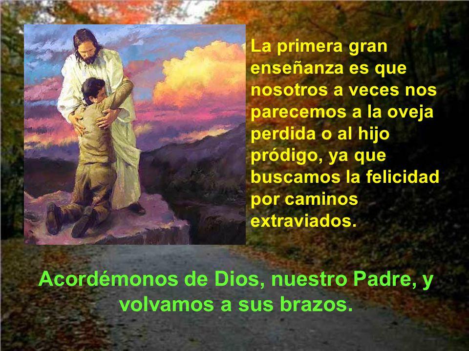 Acordémonos de Dios, nuestro Padre, y volvamos a sus brazos.