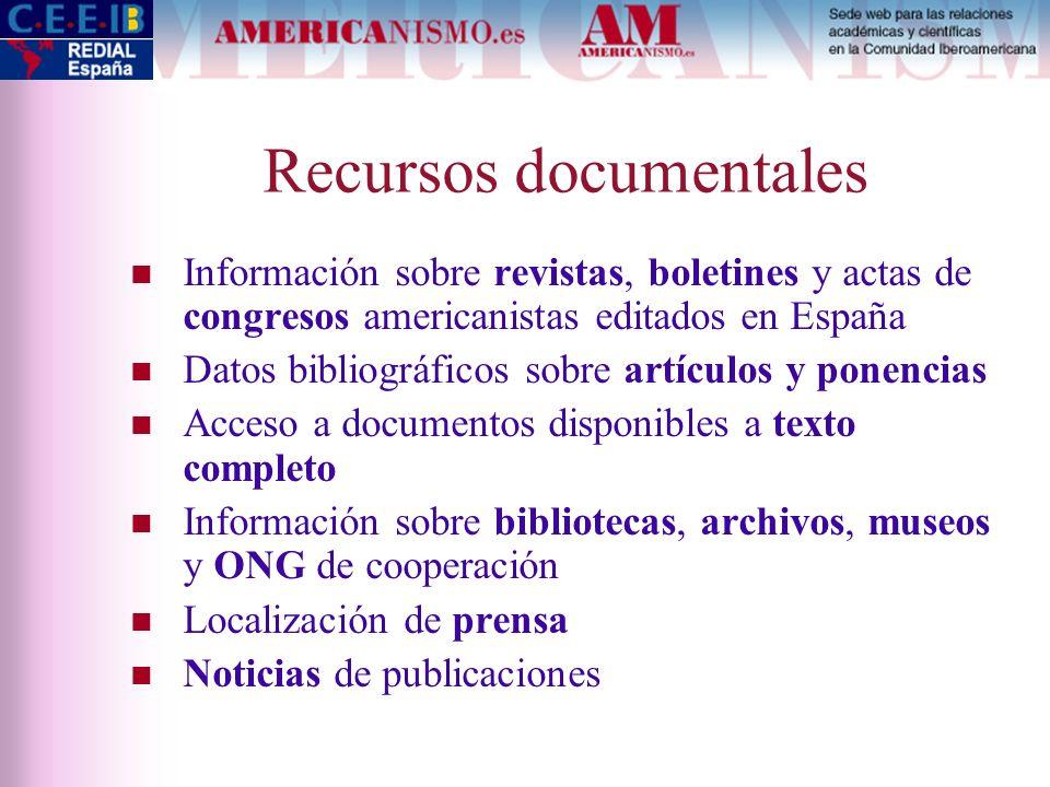 Recursos documentales