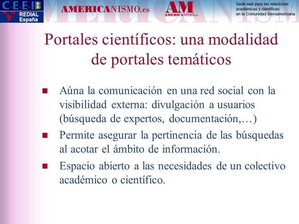 Portales científicos: una modalidad de portales temáticos