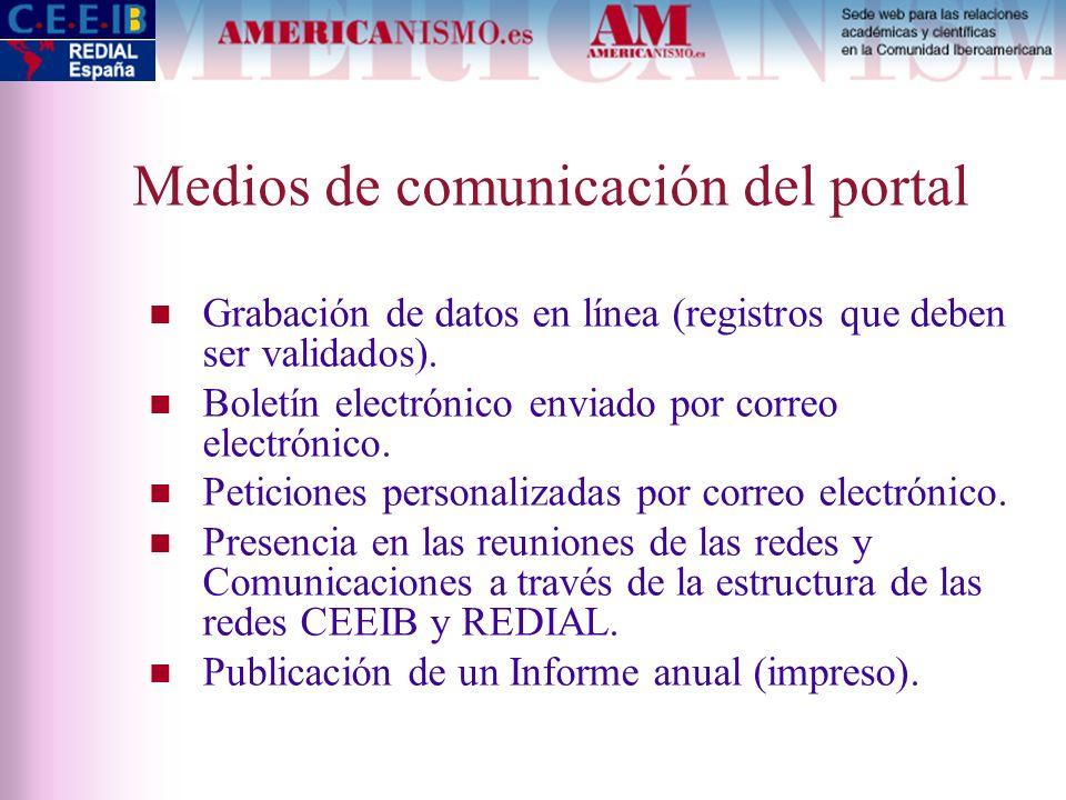 Medios de comunicación del portal