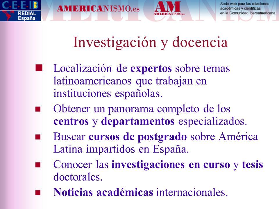 Investigación y docencia