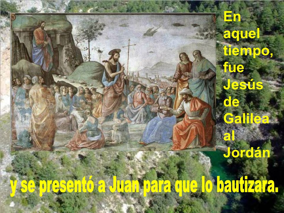 y se presentó a Juan para que lo bautizara.