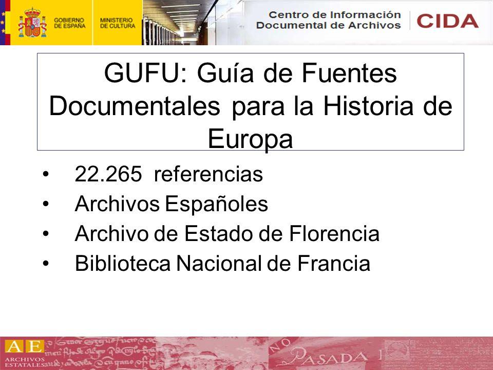 GUFU: Guía de Fuentes Documentales para la Historia de Europa
