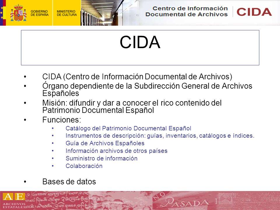 CIDA CIDA (Centro de Información Documental de Archivos)