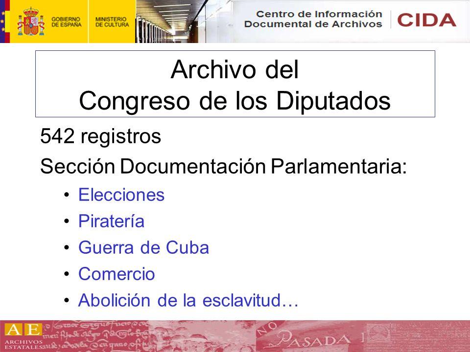 Archivo del Congreso de los Diputados