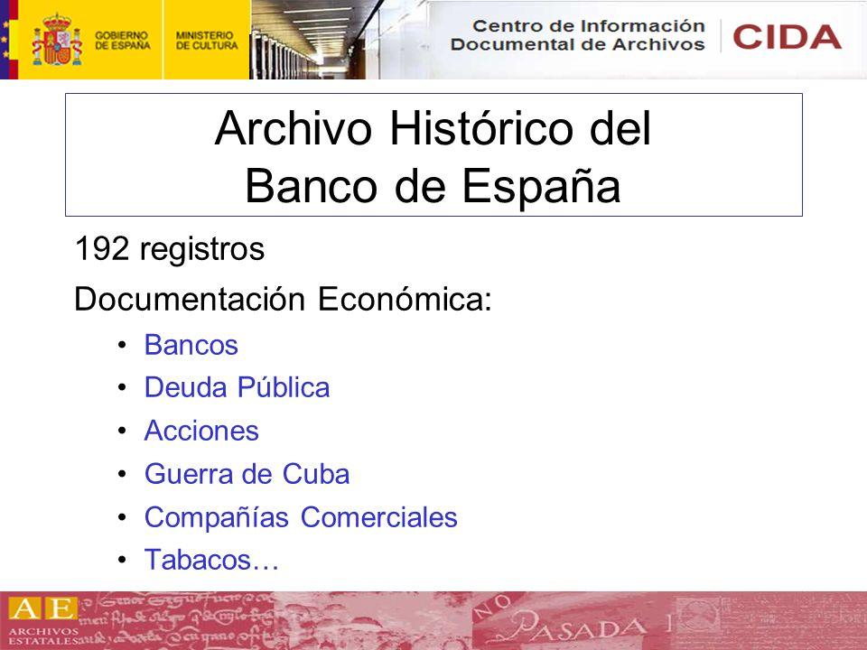 Archivo Histórico del Banco de España