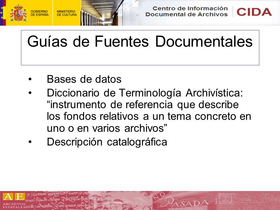 Guías de Fuentes Documentales