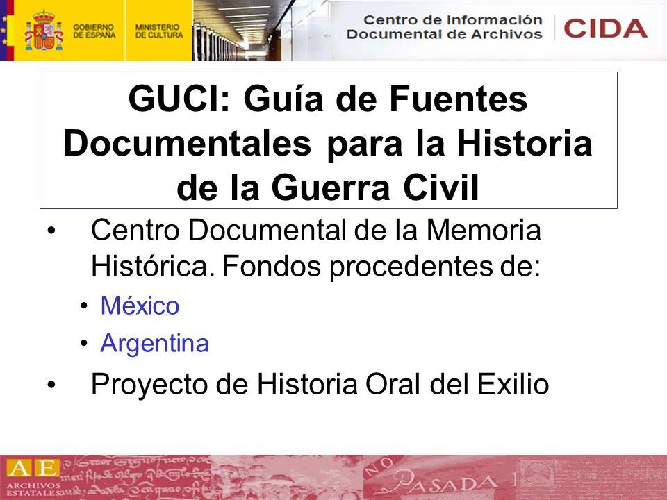 GUCI: Guía de Fuentes Documentales para la Historia de la Guerra Civil
