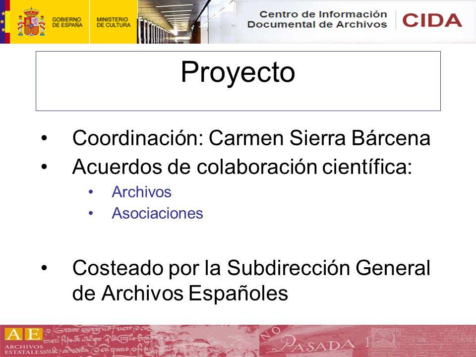 Proyecto Coordinación: Carmen Sierra Bárcena