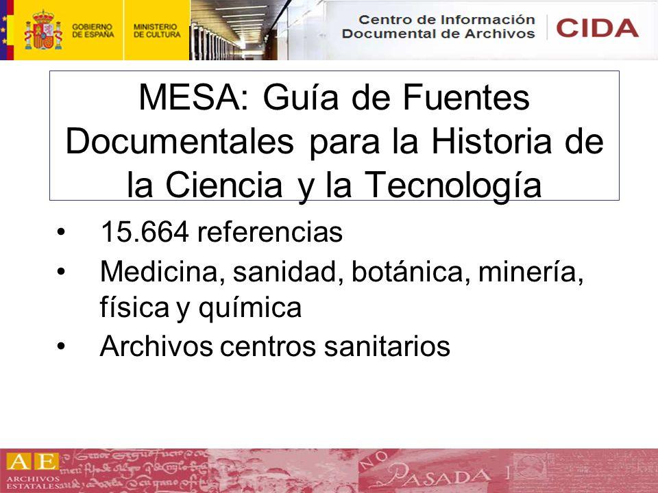 MESA: Guía de Fuentes Documentales para la Historia de la Ciencia y la Tecnología