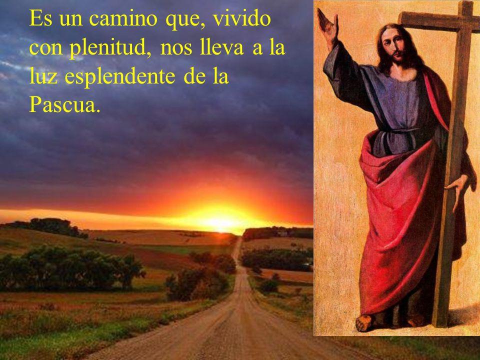 Es un camino que, vivido con plenitud, nos lleva a la luz esplendente de la Pascua.