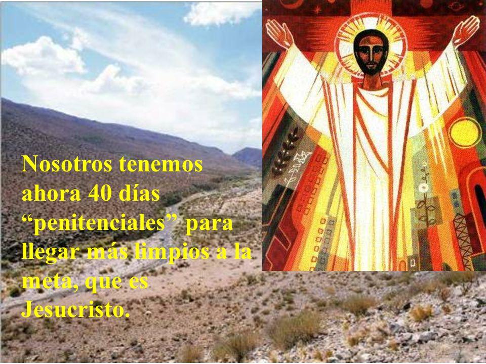 Nosotros tenemos ahora 40 días penitenciales para llegar más limpios a la meta, que es Jesucristo.