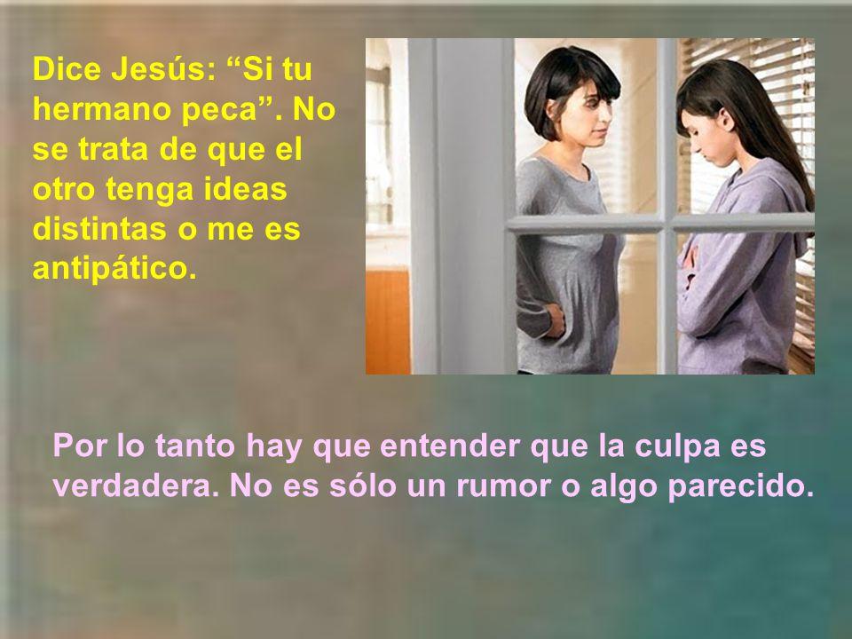 Dice Jesús: Si tu hermano peca