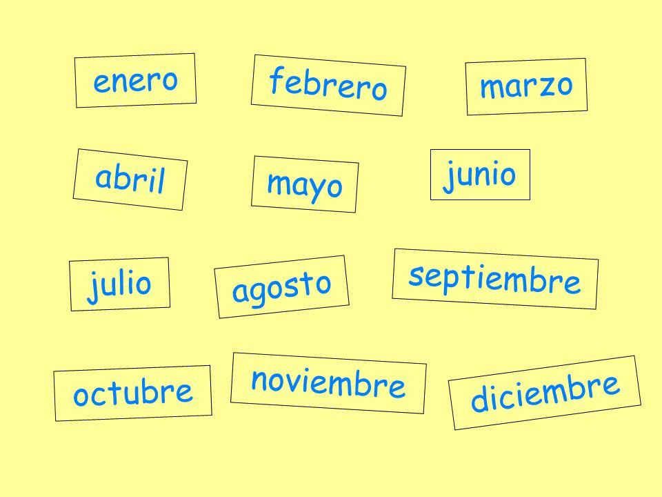 enero febrero marzo junio abril mayo septiembre julio agosto noviembre octubre diciembre