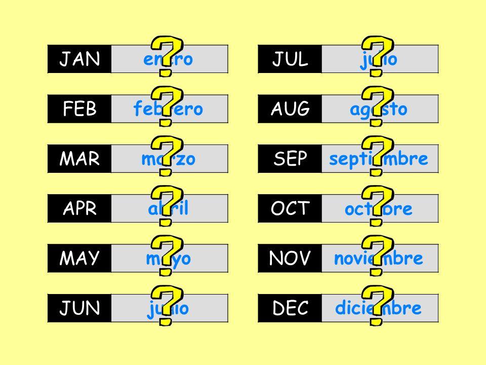 JAN JAN. enero. enero. JUL. JUL. julio. julio. FEB. FEB. febrero. febrero. AUG. AUG. agosto.