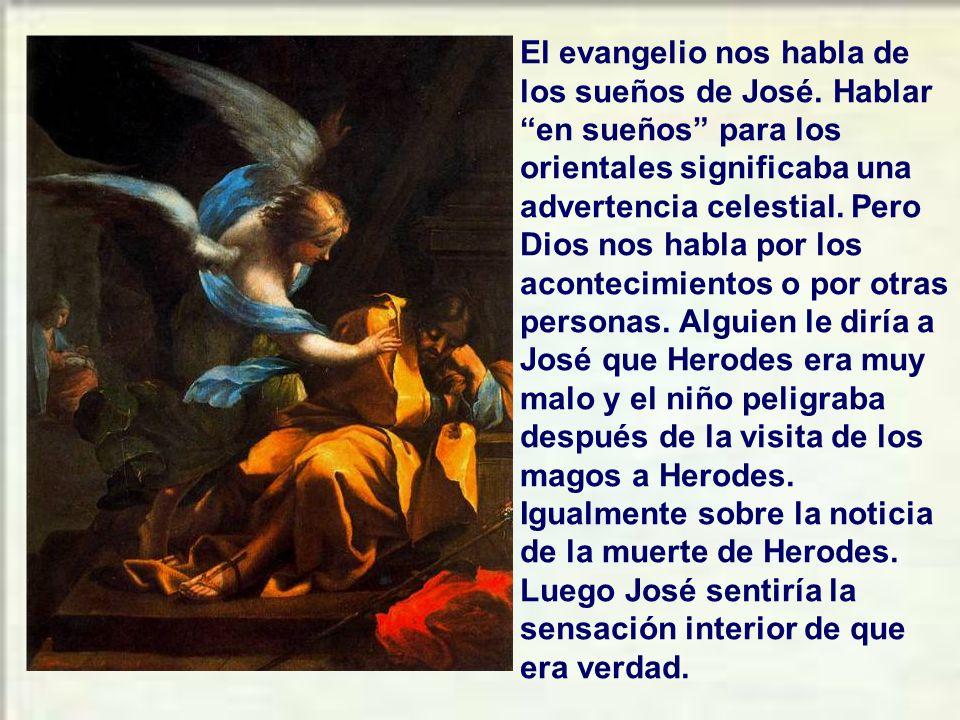 El evangelio nos habla de los sueños de José
