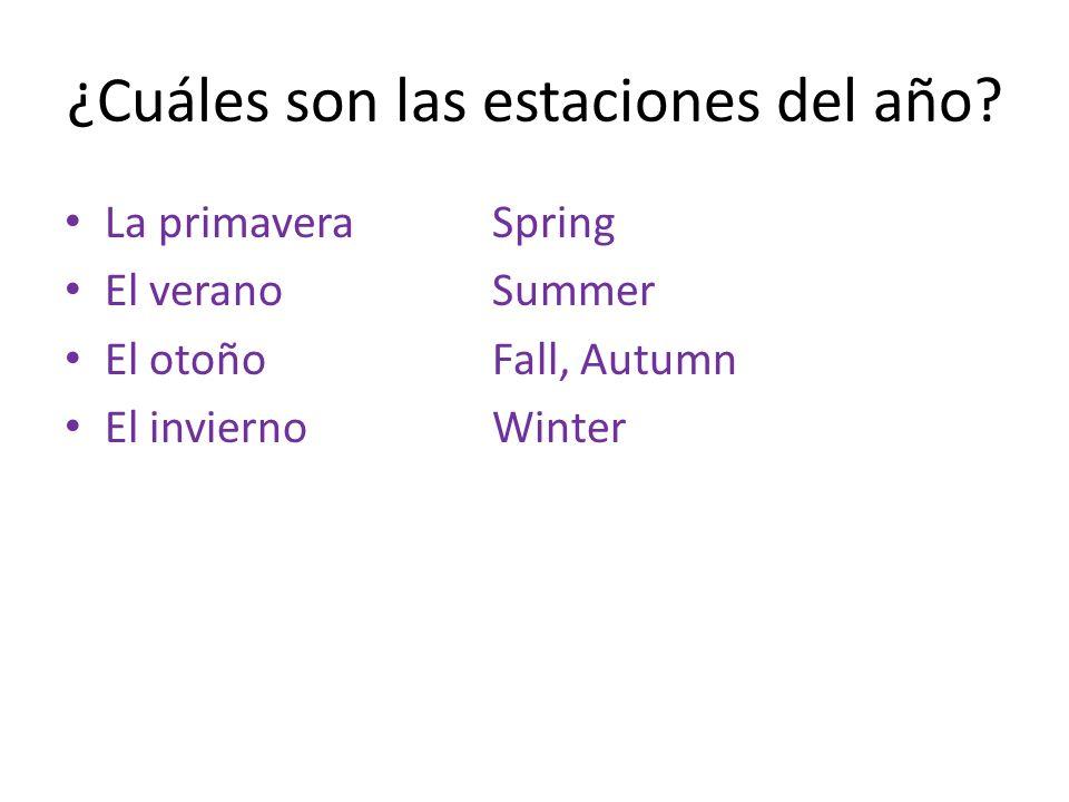 ¿Cuáles son las estaciones del año
