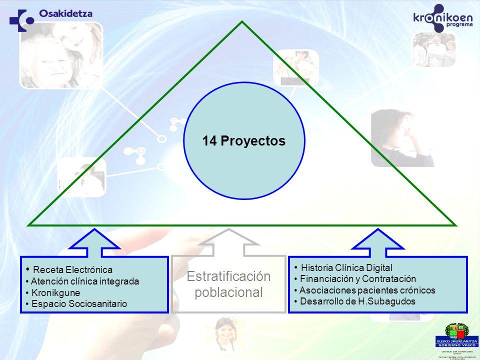 14 Proyectos Estratificación poblacional Receta Electrónica
