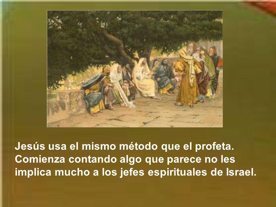 Jesús usa el mismo método que el profeta