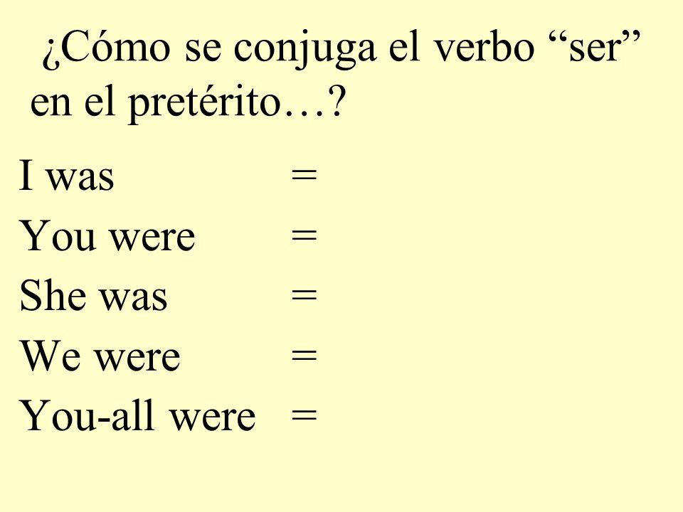 ¿Cómo se conjuga el verbo ser en el pretérito…