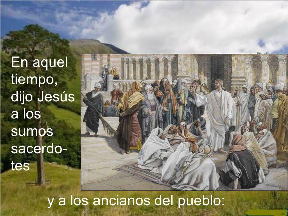 En aquel tiempo, dijo Jesús a los sumos sacerdo-tes