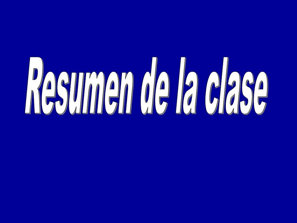 Resumen de la clase