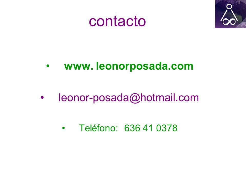 contacto www. leonorposada.com leonor-posada@hotmail.com