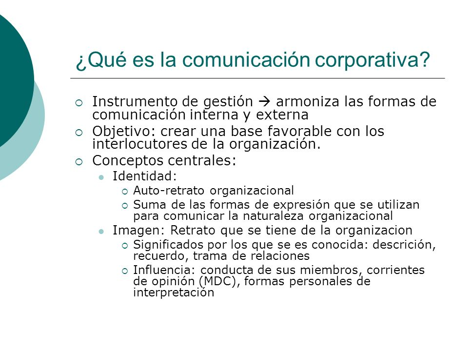 ¿Qué es la comunicación corporativa