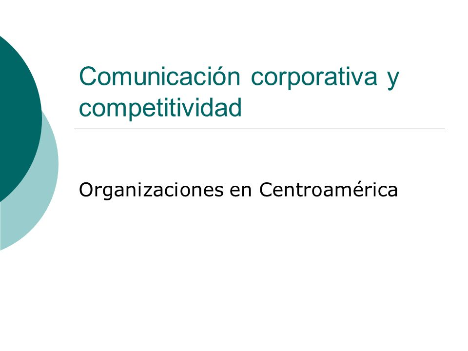 Comunicación corporativa y competitividad