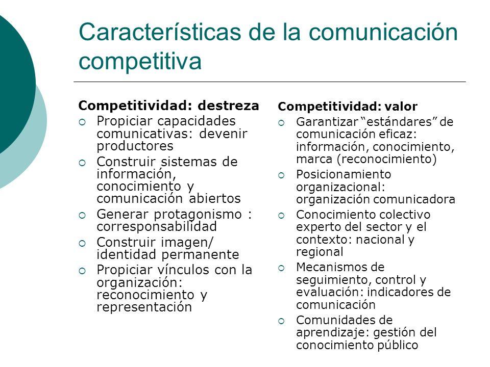 Características de la comunicación competitiva