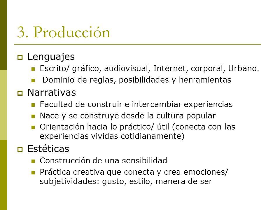 3. Producción Lenguajes Narrativas Estéticas