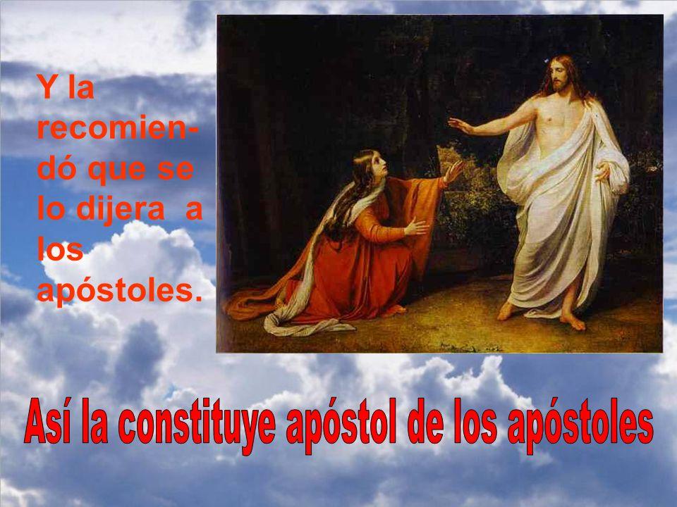 Así la constituye apóstol de los apóstoles