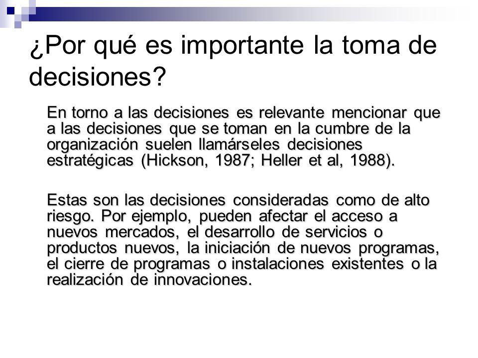 ¿Por qué es importante la toma de decisiones
