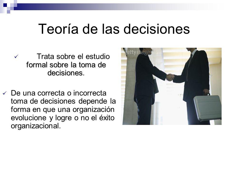 Teoría de las decisiones