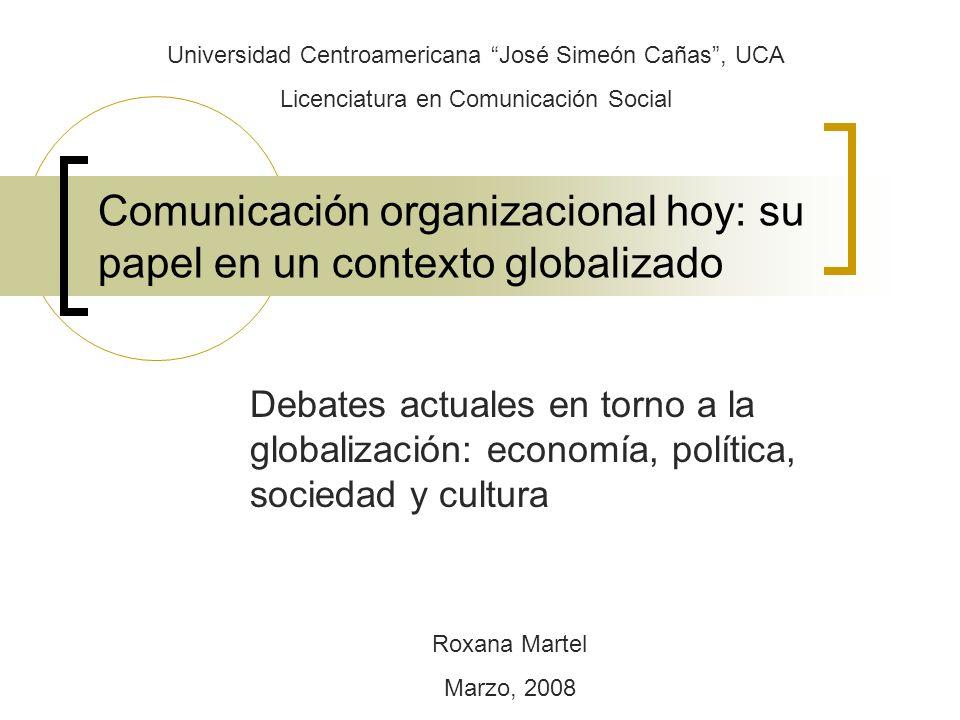 Comunicación organizacional hoy: su papel en un contexto globalizado