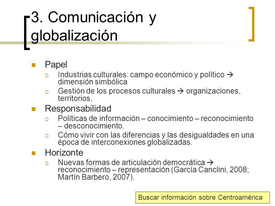3. Comunicación y globalización