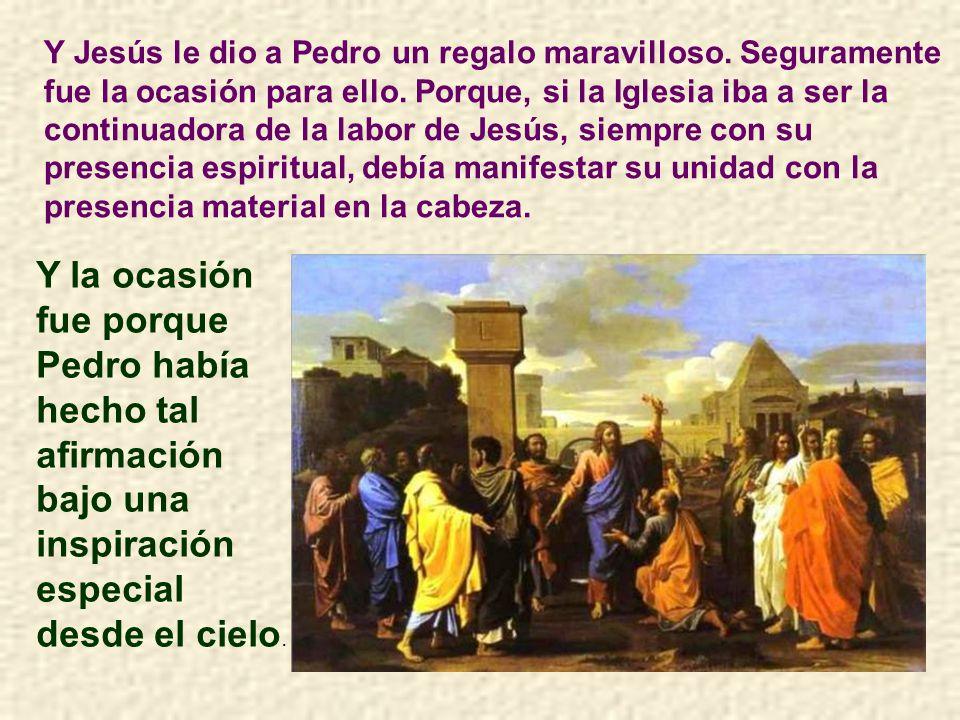 Y Jesús le dio a Pedro un regalo maravilloso
