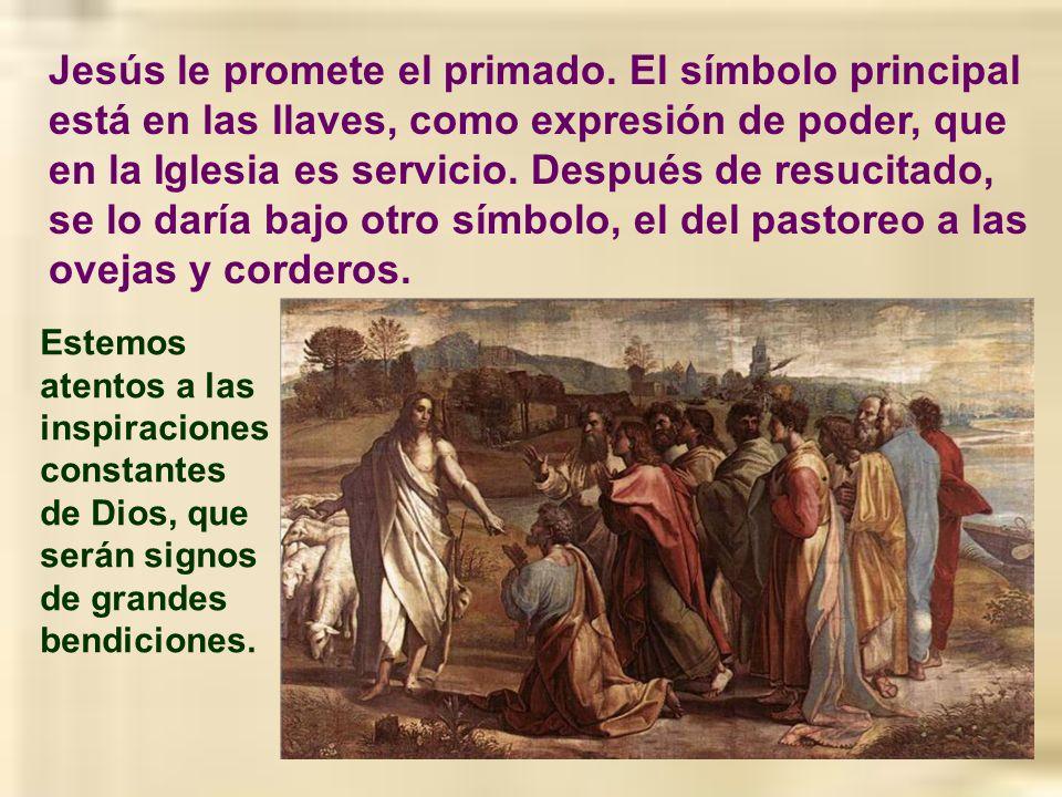 Jesús le promete el primado