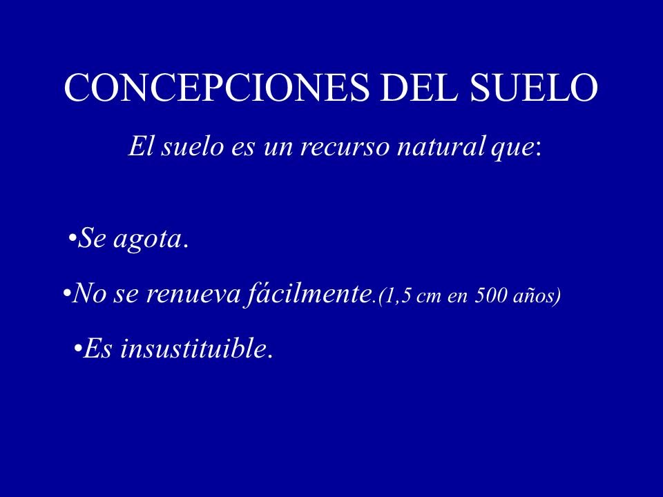 CONCEPCIONES DEL SUELO