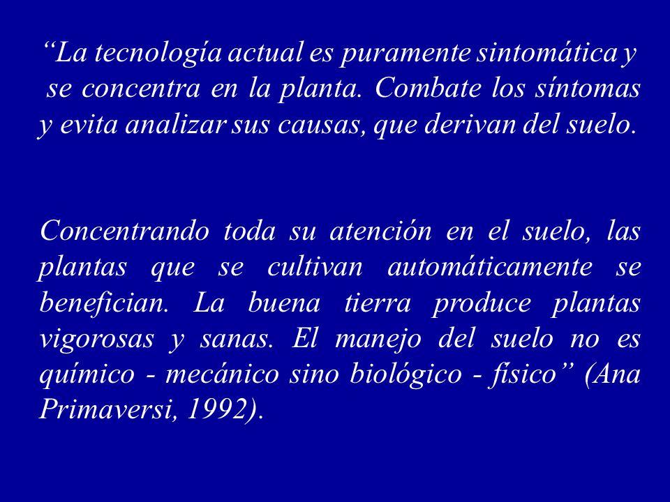 La tecnología actual es puramente sintomática y