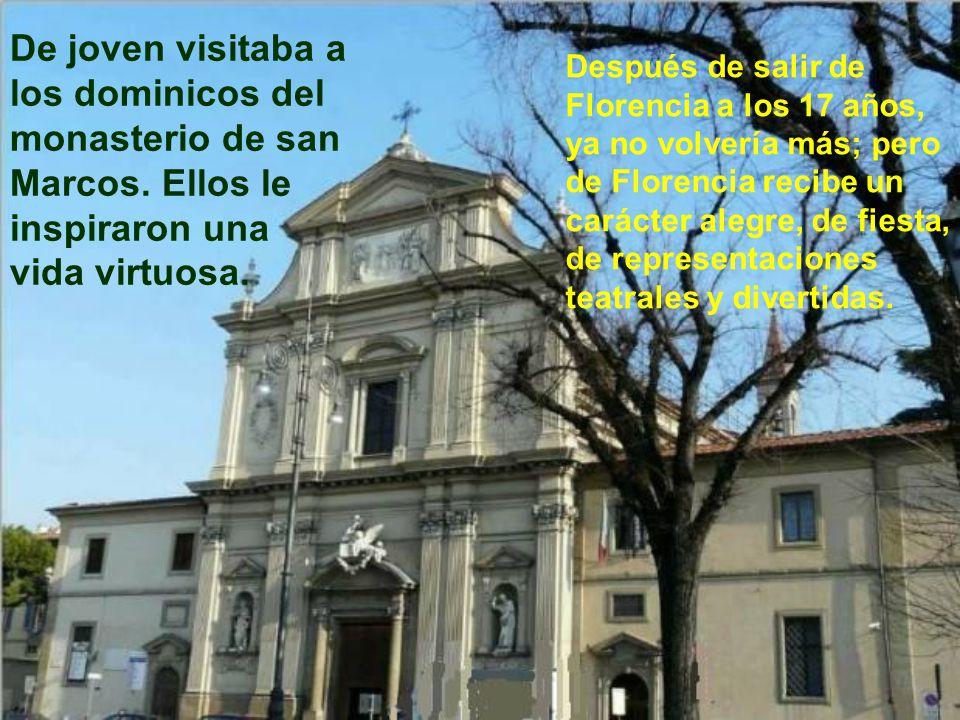 De joven visitaba a los dominicos del monasterio de san Marcos
