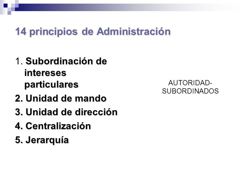 14 principios de Administración